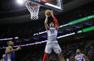 Christian Wood de los Pistons de Detroit. Foto:AP