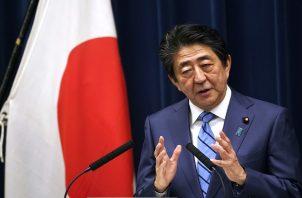 El primer ministro japonés Shinzo Abe. Foto:AP
