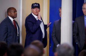 El presidente Donald Trump, causa polémica por solicitud de exclusividad en vacunas. FOTO/EFE