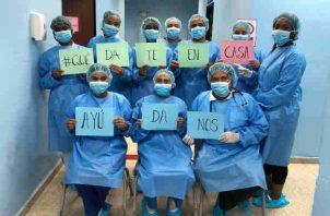 Enfermera piden respaldo a los panameños en medio de alerta por coronavirus. Foto/Cortesía