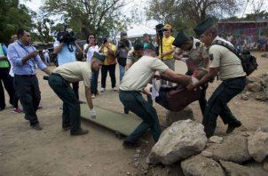 Simulacro contra multiamenazas efectuado en Managua. Foto: EFE,