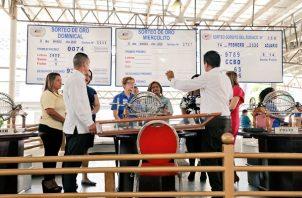 Los sorteos de la Lotería fueron suspendidos desde el próximo lunes hasta el 12 de abril.