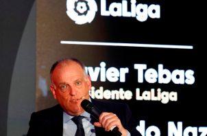 Javier Tebas, presidente de LaLiga de España. Foto EFE
