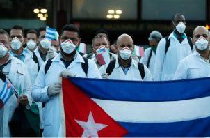 Cubanos ayudan en Italia por la pandemia del coronavirus.