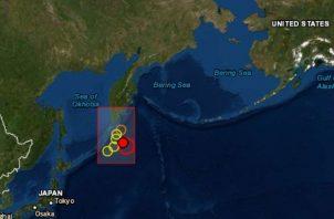 El terremoto tuvo epicentro 219 kilómetros (136 millas) al sur-sureste de Severo, en el archipiélago de las Kuriles.