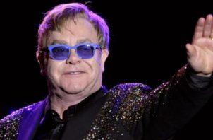 Elton John, participará en concierto a  beneficio de oenegés para ayudar a paliar los efectos del coronavirus. Foto: EFE