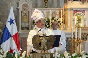 Arzobispo de Panamá, José Domingo Ulloa Mendieta, oficiará celebraciones litúrgicas de Semana Santa, desde la Capilla del Seminario Mayor San José. Foto: Archivo.