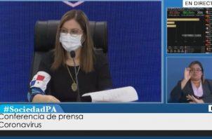 Ministra de Salud, Rosario Turner, reveló el nuevo número de contagiados por COVID-19 en Panamá.