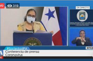 Jefa de Epidemiología del Ministerio de Salud (Minsa), Lourdes Moreno