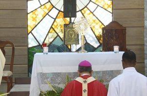 Monseñor José Domingo Ulloa dijo que hoy se celebra un Domingo de Ramos espiritual. Foto @ArquiPanama