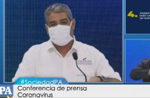 El viceministro de Salud, Luis Francisco Sucre, habla sobre los nuevos casos de COVID-19.
