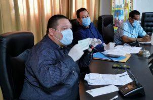 alcalde del Distrito de Santiago Samid Sandoval, informó al presidente de la república Laurentino Coertizo sobre su decisión.