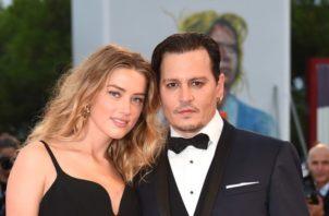 Amber Heard y Johnny Depp.