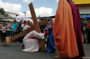 Los dramas de Semana Santa en vivo que se hacían en La Chorrera y Arraiján fueron suspendidos. Foto: Eric Montenegro.
