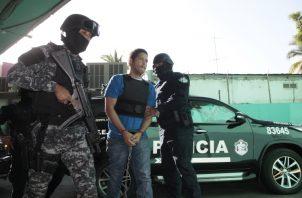 Gilberto Ventura Ceballos a su llegada a una de las audiencias en el Sistema Penal Acusatorio.