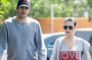 Ashton Kutcher y Mila Kunis. Archivo