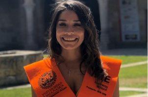 María Elena Tuñon culminó su maestría en Salamanca y su vuelo estaba programado para el 29 de marzo. Foto de cortesía
