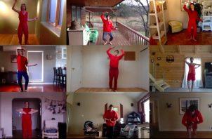 """La Trisha Brown Dance Company convierte la obra """"Roof Piece"""" de 1971 de Brown en la """"Room/Roof Piece"""" en línea. Foto / vía Trisha Brown Dance Company."""