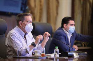 El presidente de la República, Laurentino Cortizo, y el vicepresidente José Gabriel Carrizo encabezaron la reunión.
