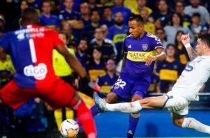 Sebastián Villa de Boca Juniors (cent.). Foto:AP