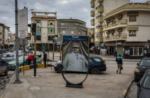 Un panorámico para Khalifa Hifter en Benghazi. Foto / Ivor Prickett para The New York Times.