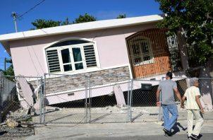 El pasado 5 de febrero la isla registró un fuerte movimiento telúrico causando graves daños en algunas viviendas. FOTO/EFE
