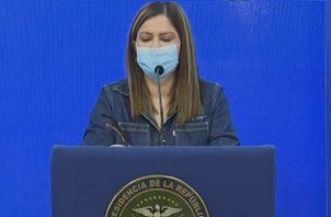 Ministra pide reportes oportunos sobre situación del COVID-19 en Panamá.