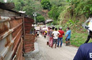 Deslizamiento de tierra en Villa María.