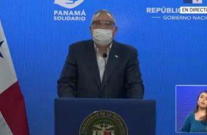 Viceministro de la Presidencia, Carlos García Molino, rinde informe sobre gastos del programa Panamá Solidario