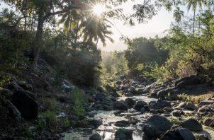 Los ríos como el Gombeni casi se han secado en la temporada de sequía en Anjouan, parte de las Comoras. Foto / Tommy Trenchard para The New York Times.