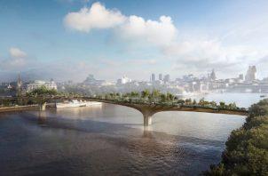 Garden Bridge (puente jardín) de Londres. EFE