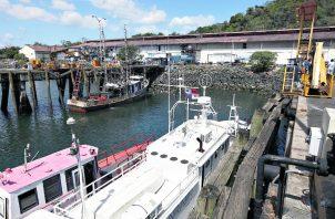Las embarcaciones de camarón y anchoveta o sardina son las que salieron hoy desde el puerto de Vacamonte.