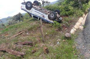 El personal accidentado fue trasladado al cuarto de urgencias del Hospital Aquilino Tejeira.