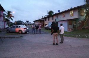 El doble homicidio en Caina, Colón, se produjo cerca de las 6:00 p.m.