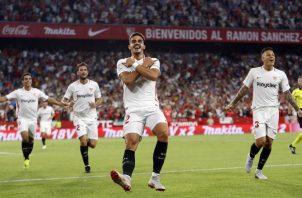 Jugadores del Sevilla. Foto:AP