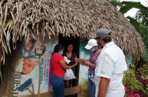 Se informó que este lunes continuará la distribución en las comunidades de Cerro Largo, Los Llanos, El Tijera, Entradero del Castillo y Menchaca de Ocú.