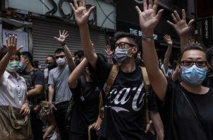 China ha decidido imponer nuevas leyes de seguridad nacional en Hong Kong, ignorando la legislatura del territorio. Una protesta en Hong Kong el 24 de mayo. Foto / Lam Yik Fei para The New York Times.