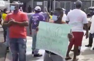 Protesta de pescadores.