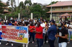 El Movimiento de Desempleados de Colón han realizado reuniones con las autoridades de la provincia buscando respuestas a sus necesidades.