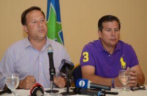 """Juan Carlos y José Luis """"Popi"""" Varela dirigían el Partido Panameñista."""