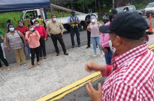 Semanas atrás, debido a la presión de la población y autoridades locales de San Carlos, este punto de control sanitario debió ser movido hacia las Guías de Oriente en Coclé.