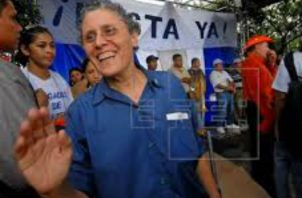 Dora María Téllez ahora pertenece al Movimiento Renovador Sandinista (MRS). Foto: EFE.
