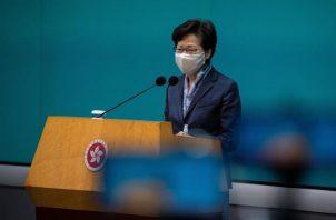 La jefa del Ejecutivo de Hong Kong, Carrie Lam.FOTO/EFE