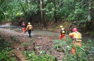 El suceso se dio en el río Agua Clara, ubicado en la comunidad de Santa Rita Arriba.