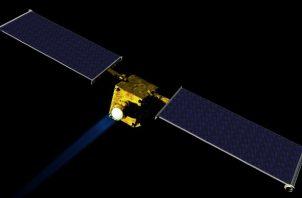 Representación artística del Double Asteroid Redirection Test, nave espacial de la NASA, que lanzarán en 2021. Foto / NASA/JHUAPL.