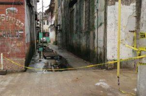 Área donde fue baleado mortalmente el adolescente. Foto: Diómedes Sánchez.