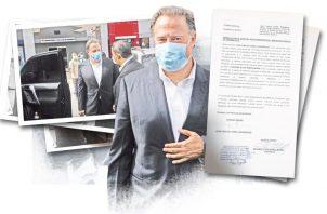 Juan Carlos Varela estuvo ayer en el edificio Avesa.