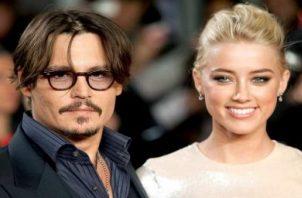 Johnny Depp y Amber Heard. Foto: Archivo