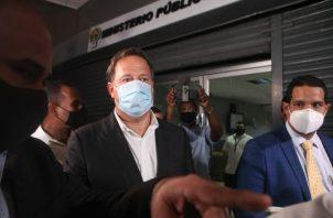 Expresidente Juan Carlos Varela rinde indagatoria en el Ministerio Público