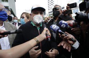 El expresidente Ricardo Martinelli se acogió al Artículo 25 de la Constitución. Foto EFE